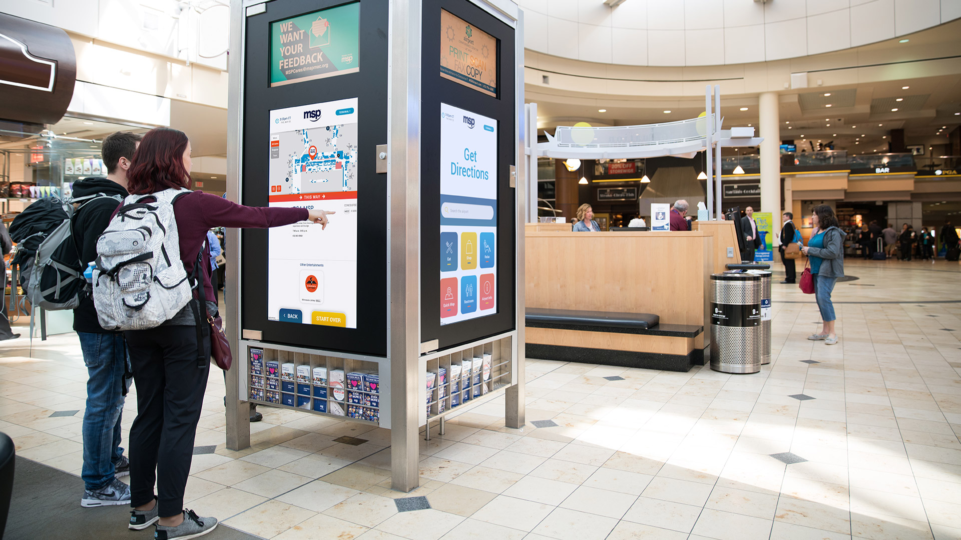 Interative Wayfinding Kiosk in the MSP Airport