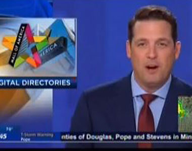 Screenshot of a newscast.